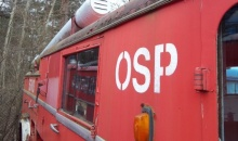 Ćwiczenia strażaków OSP na Stacji Kolei Wąskotorowej w Rudach