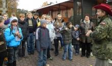 Młodzi Ukraińcy zwiedzili wąskotorówkę